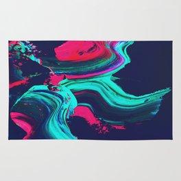 Neon abstract #FEELING Rug