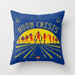 Moon Crisis Throw Pillow
