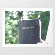 Holy Bible w/ bokeh Art Print