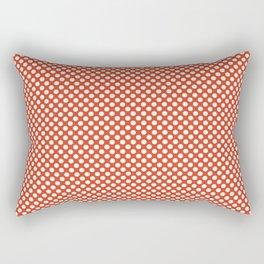 Tangerine Tango and White Polka Dots Rectangular Pillow
