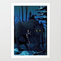 Cry, Wolf Art Print