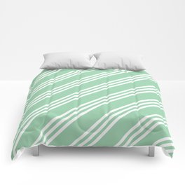 Mint Green Large/Small/Small Stripes Comforters