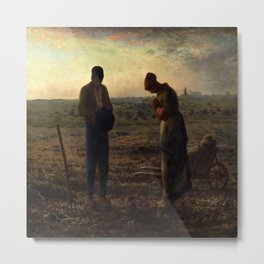 Jean-Francois Millet's The Angelus Metal Print