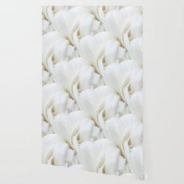 Snow White Flowers on a Dark Background #decor #society6 #buyart Wallpaper