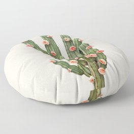 CACTUS AND ROSES Floor Pillow