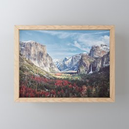 Tunnel View Yosemite Valley Framed Mini Art Print