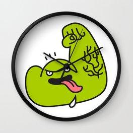Green Daze Wall Clock