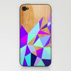 Wooden Geo Purple iPhone & iPod Skin
