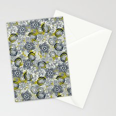 succulents chartreuse indigo Stationery Cards