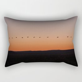 Following The Leader Rectangular Pillow