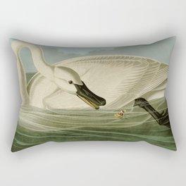 Trumpeter swan John James Audubon Rectangular Pillow