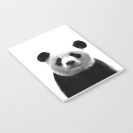 Black and white panda portrait Notebook