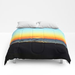 Traditional Seaside Sunset Comforters