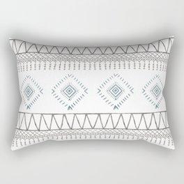 Blue Beige Aztec Rectangular Pillow