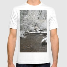 South Willowbrook MEDIUM White Mens Fitted Tee