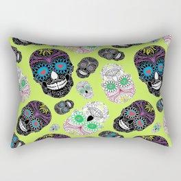 Day Of The Dead, Sugar Skulls Rectangular Pillow