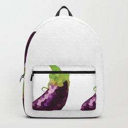 eggplant 1x3 pattern, fill, repeating, tiled | elegant Backpack