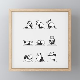 Panda Yoga Framed Mini Art Print