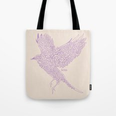 Flight in Swirls Tote Bag