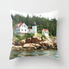 Bass Lighthouse Throw Pillow