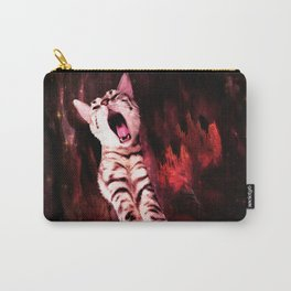 The Great Kitty Warrior of the Fiery Cat Cavern Carry-All Pouch