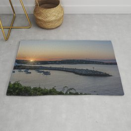 Sunset over Rockport Rug