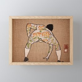 Chrysanthemum; 爆菊花 Bào júhuā Framed Mini Art Print
