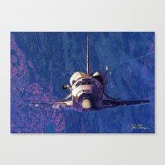 Space shuttle orbit Canvas Print