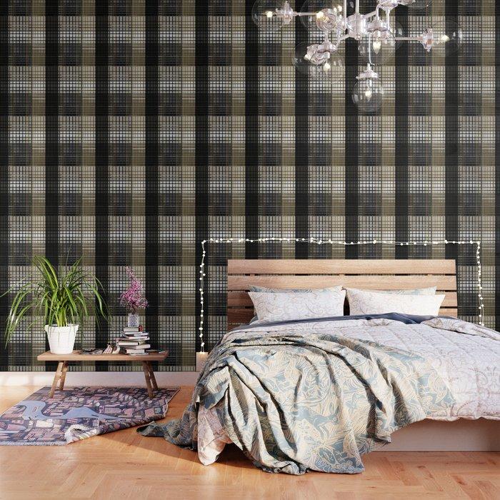 Brown Plaid Wallpaper: Grey Brown Plaid Wallpaper By Decoli