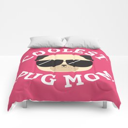 Coolest Pug Mom Comforters
