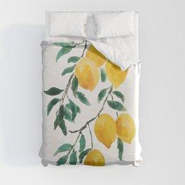yellow lemon 2018 Duvet Cover