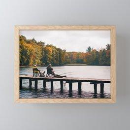 Fishing in the woods Framed Mini Art Print