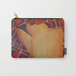 Young Girl Flirting Tease Me in Tartan Carry-All Pouch