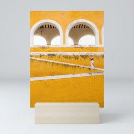 Colonial Mexico, Izamal in Yellow #buyart #society6 #decor Mini Art Print