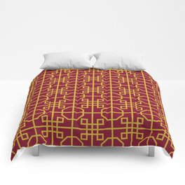 Imperial Dragon Seamless Pattern Comforters