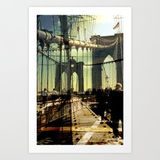 to the other side of Brooklyn Bridge Art Print