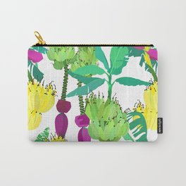 Banana Bunches in White Carry-All Pouch