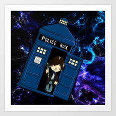 Tardis in space Doctor Who 2 Art Print