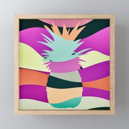 Sliced Abstract Ananas Framed Mini Art Print