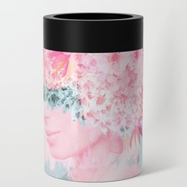 Woman in flowers II Can Cooler
