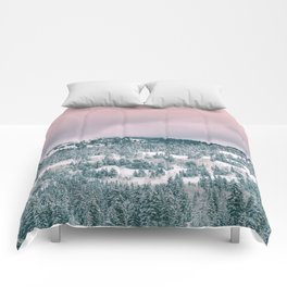 Blush Sky in Woodland Heights Comforters