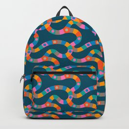 VINTAGE GAME BOARD in Candy Colours Dark Backpack