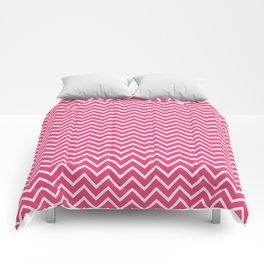 Pink Chevron Pattern Comforters