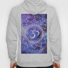 Om Mandala Purple Lavender Blue Galaxy Hoody