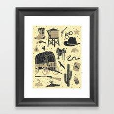 Mild West Framed Art Print