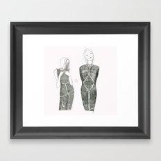 Pink Shibari  Framed Art Print