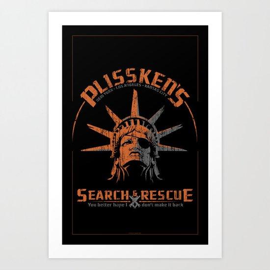 Snake Plissken's Search & Rescue Pty. Ltd. Art Print