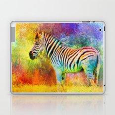 Jazzy Zebra Colorful Animal Art by Jai Johnson Laptop & iPad Skin