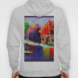 Watercolor Autumn Fishers 4 Hoody