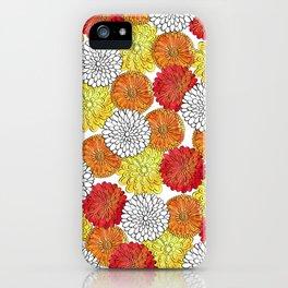 Dahlia Garden Summer iPhone Case